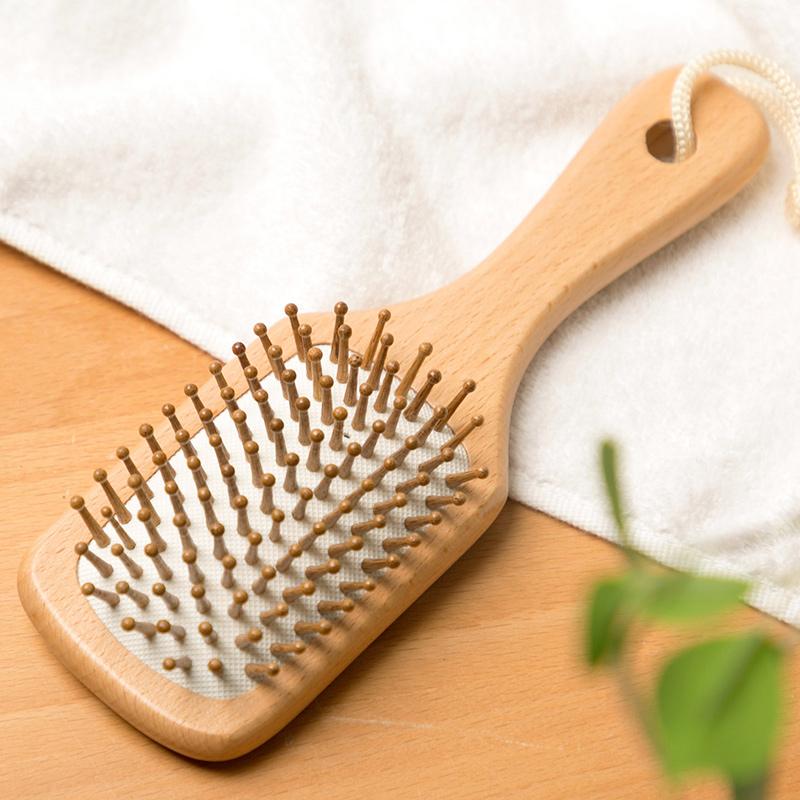 居家家气垫防静电木头头皮梳子卷发梳女木梳顺发按摩梳榉木气囊梳