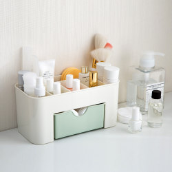Home Drawer Cosmetics Storage Box Makeup Brush Finishing Box Desktop Jewelry Skincare Product Framing Dresser
