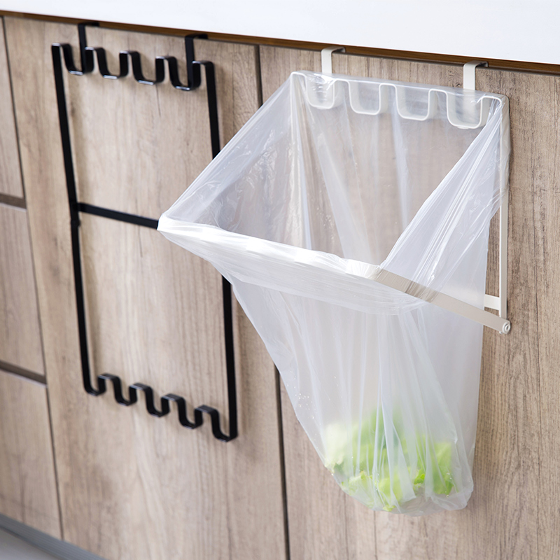 Home Home Kitchen Cabinet Door Back Type Garbage Bag Holder Hook Kitchen  Plastic Bag Hanger