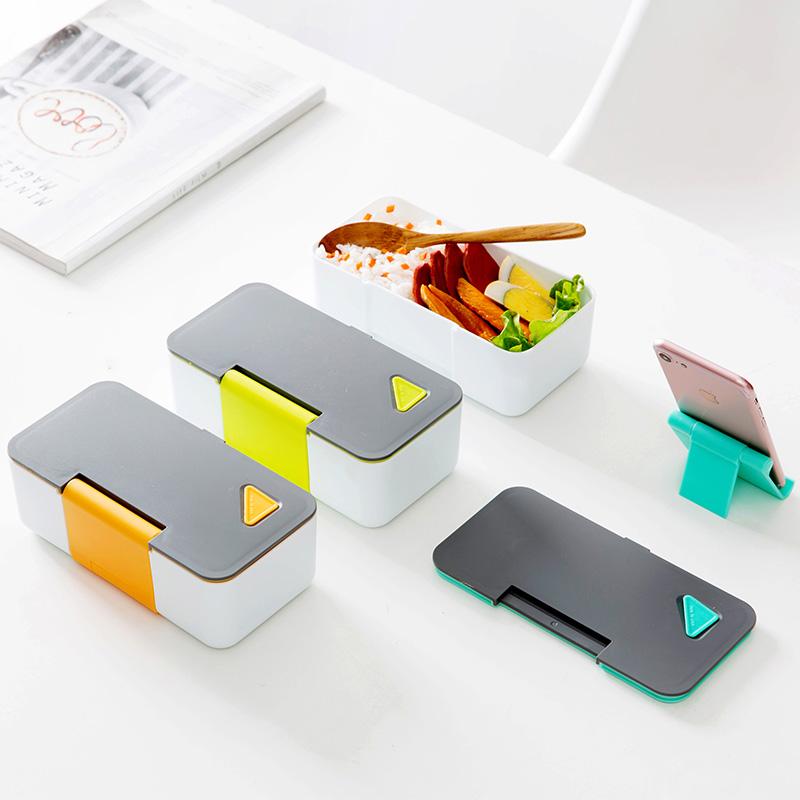 Домой домой японский легко коробка холодильник еда сохранение коробка микроволновой печи пластик коробка для завтрака фрукты s печать коробка