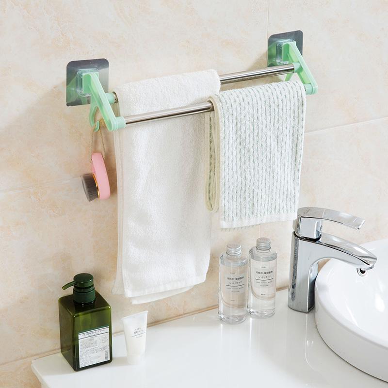 Home Stainless Steel Towel Rack Bathroom Towel Bar Bathroom Double Towel  Rack Towel Rack