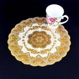 Европейский Западная пищевая циновка ПВХ бронзирование отель подставка для чашек коврик для пепельницы поднос с круглым столом коврик для изоляции