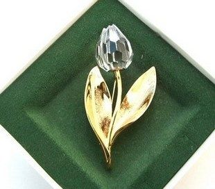 Spot authentic Swa*rovski Shijia Crystal Tulip Brooch 182513 Reminiscence Love Edition Out of Print