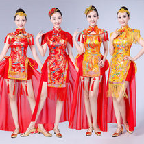 China Feng shui inspires drumming clothes waist drum Team dress Female Adult 2