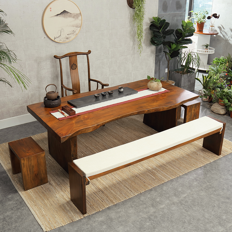Antique Kung Fu Tea Table Tea Table New Chinese Tea Table And Chair  Combination Solid Wood Slab Tea Table Tea Table Zen Coffee Table