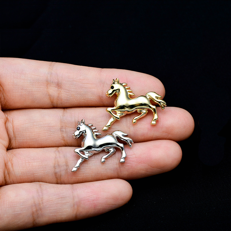 High-end horse brooch men's suit suit collar pin fixed clothes jacket shirt small badge pin brooch accessories