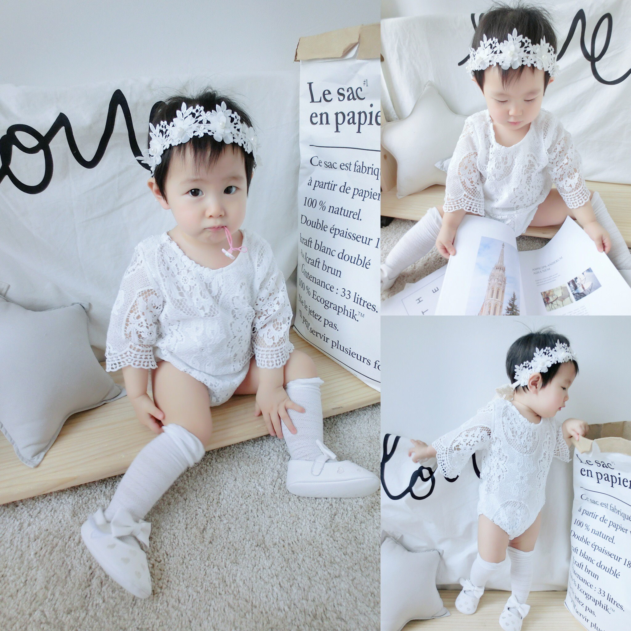 af7999f9d USD 14.03  Cocoa mother baby Siamese female baby short sleeve romper ...