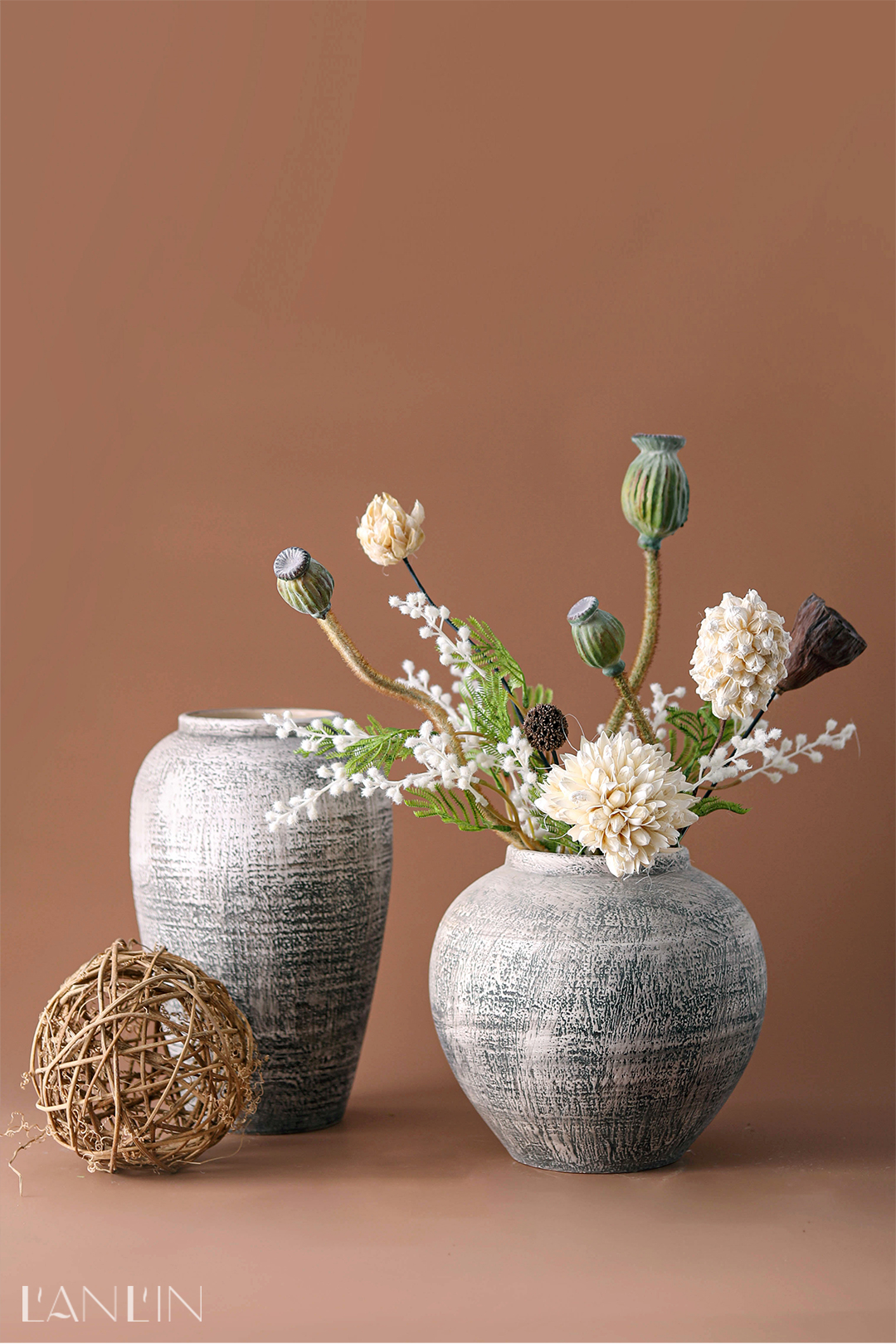 Vase restoring ancient ways is contracted and I flower arranging dried flower flower implement home decoration Nordic sitting room place flower POTS table