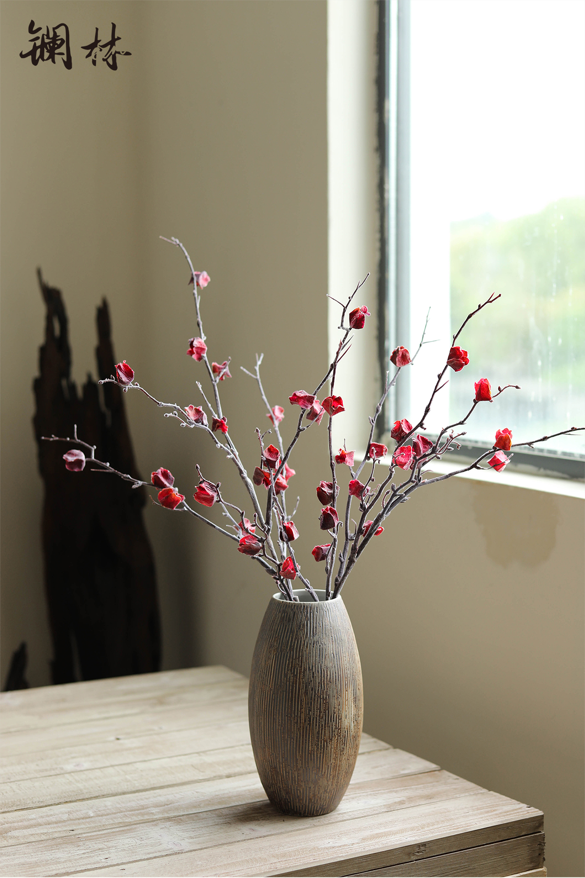 Autumn simulation flower fruit coarse pottery furnishing articles do old wabi-sabi wind restoring ancient ways home stay soft adornment art film props