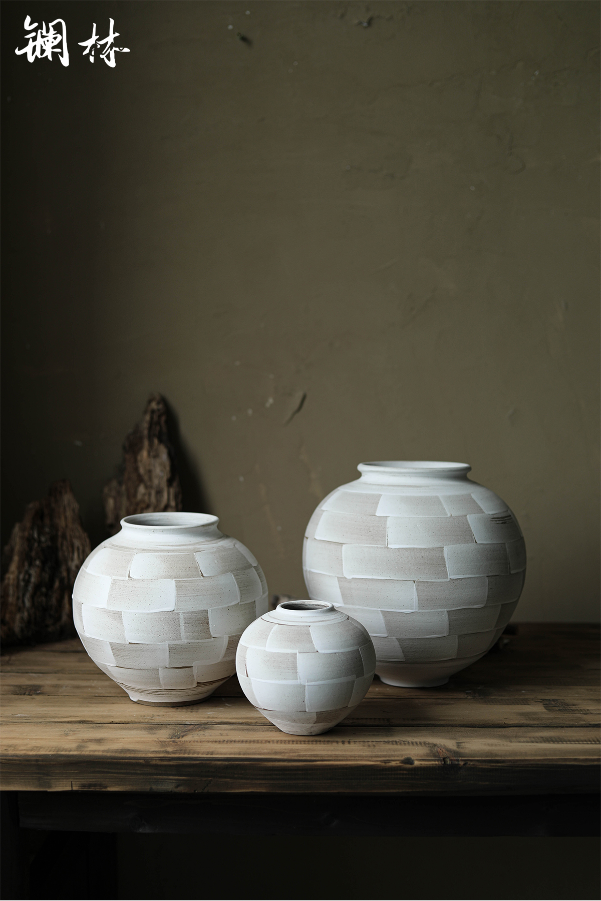 Manual insert ceramic vase restoring ancient ways artists space flower decorations furnishing articles Chinese dried flowers home home stay facility