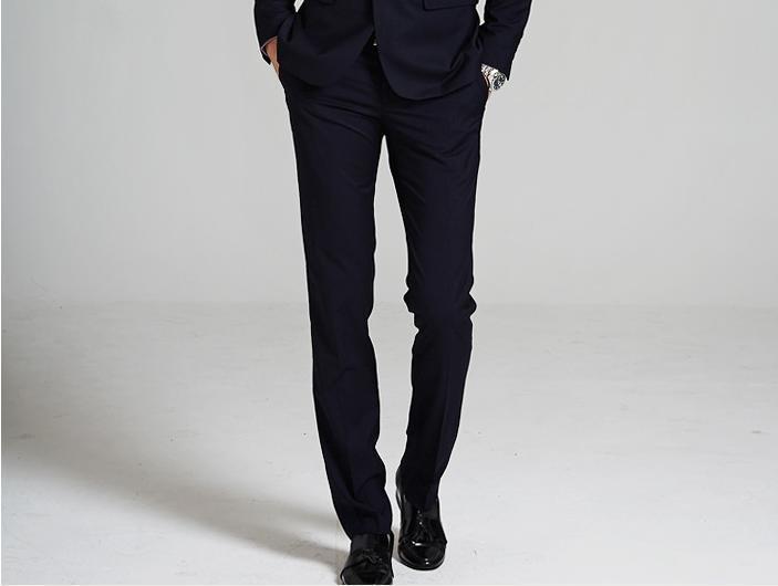 Mùa xuân của nam giới quần chú rể Hàn Quốc phiên bản của tự kinh doanh mặc quần áo phù rể kết hôn chân phù hợp với quần mùa hè làm việc mỏng mặc