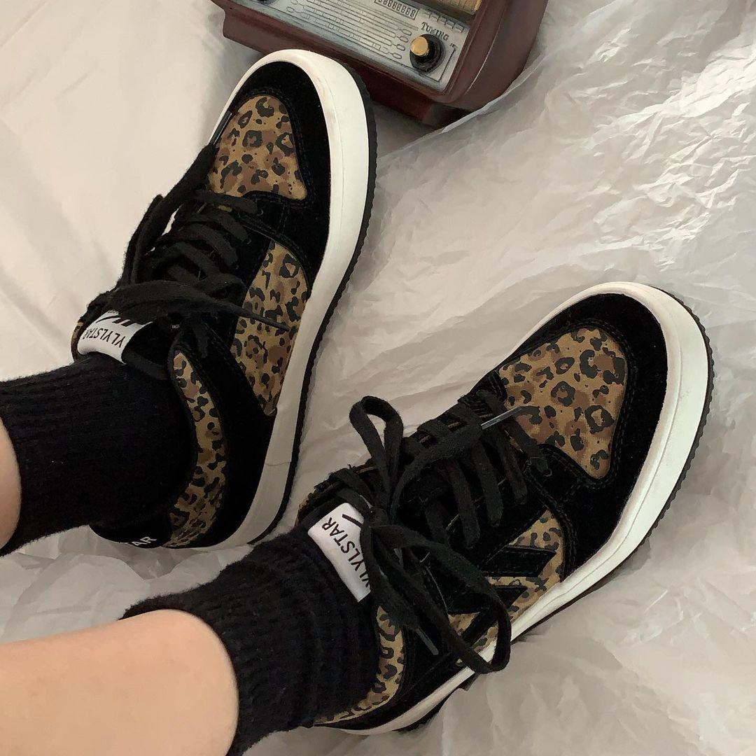 豹纹女鞋斑马纹运动鞋女鞋子年新款春秋冬潮韩版百搭板鞋详细照片