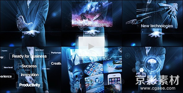 AE模板-高科技商业企业宣传展示片头 Business Reel