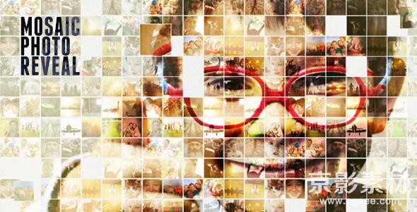 AE模板-马赛克图片墙汇聚展示片头 Mosaic Photo Reveall