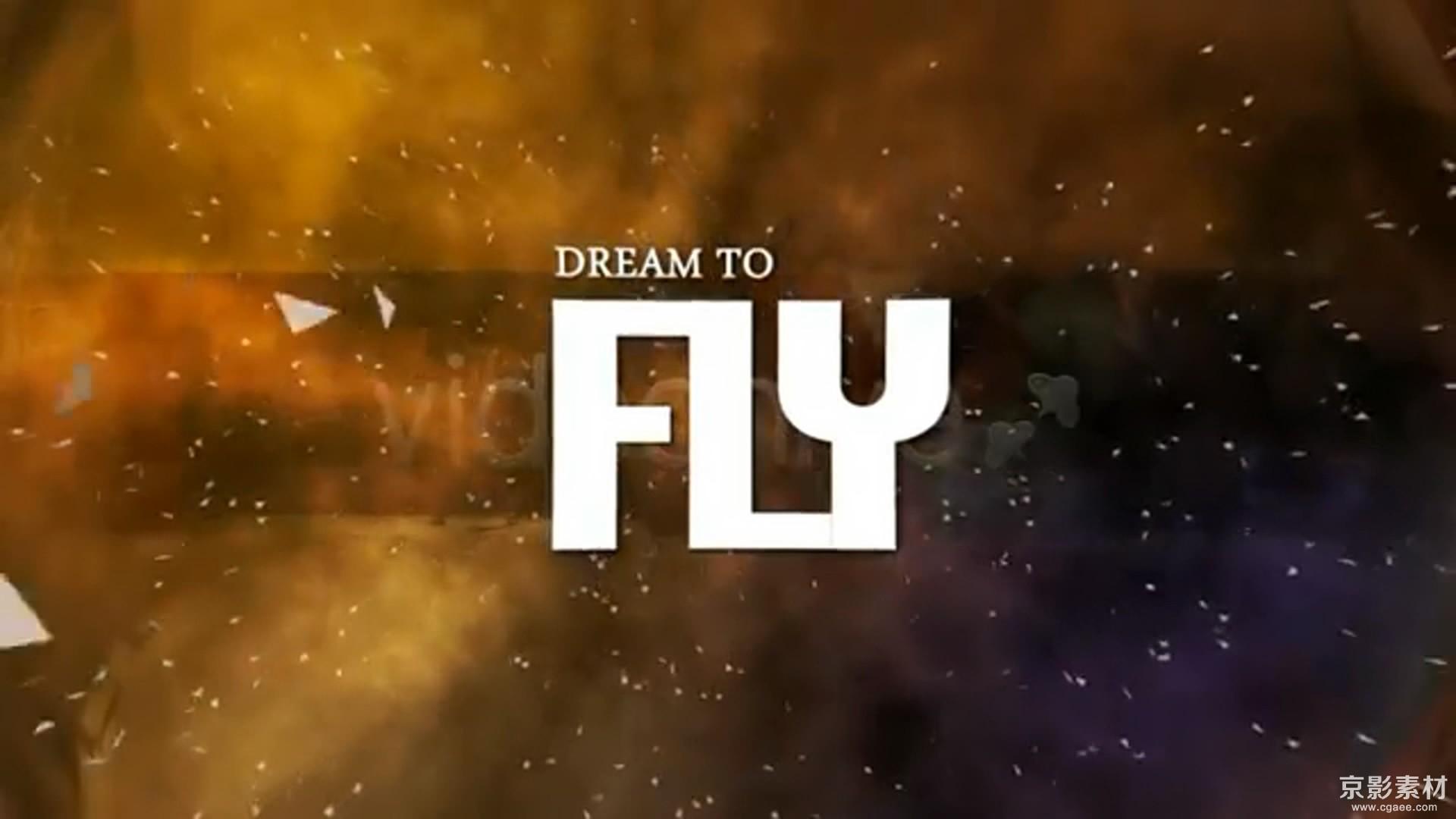 AE模板-旋转梦幻相册片头Dream To Fly