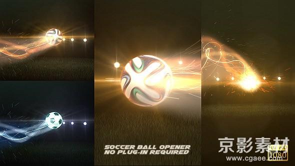 AE模板-超酷足球Logo演绎动画片头 Soccer Ball Opener