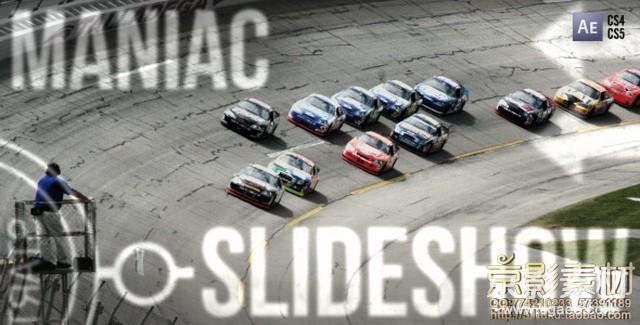 AE模板-超酷体育运动视频图片展示片头 Maniac Slideshow