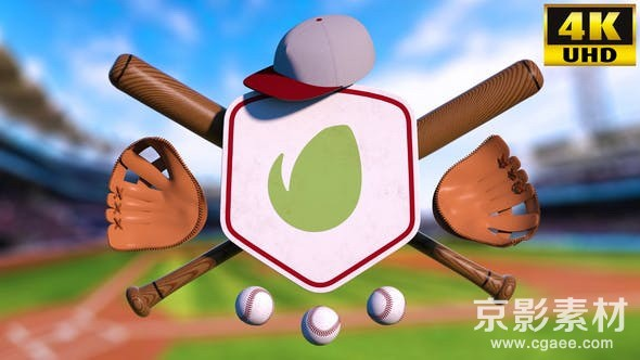 AE模板-棒球Logo标志展示片头 Baseball Logo Reveal Intro V1 23878187