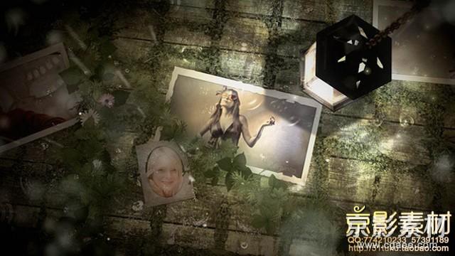 AE模板-复古怀旧光照相册图片展示片头 Light Photo Gallery