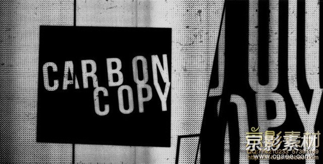 AE模板-复古创新文字排版展示片头 CarbonCopy Type Promo