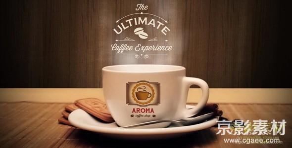 AE模板-咖啡广告产品宣传动画片头 Coffee Bundle