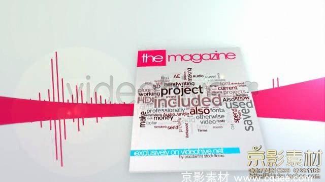 AE模板-3D杂志板式片头 3D magazine bundle