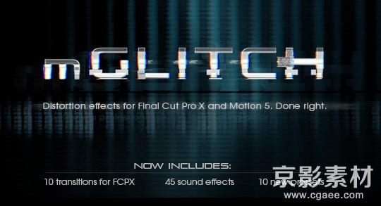 FCPX插件-MotionVFX mGlitch-信号故障干扰画面失真特效Final Cut Pro X 插件