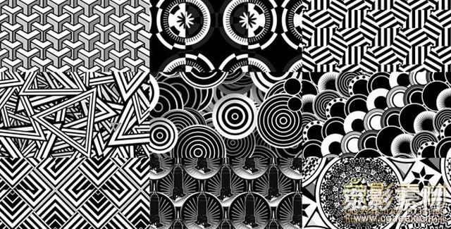 AE模板-复古花纹图形视频素材+AE工程 Art Deco Background Patterns 1