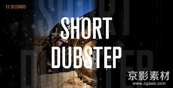 AE模板-动感短片预告宣传片头 Short Dubstep
