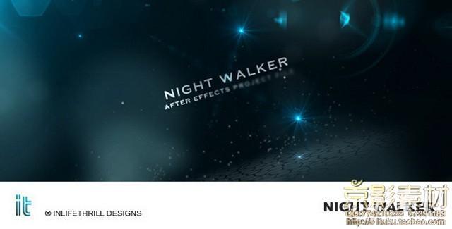 AE模板-劲酷暗色系风格展示片头 Night Walker