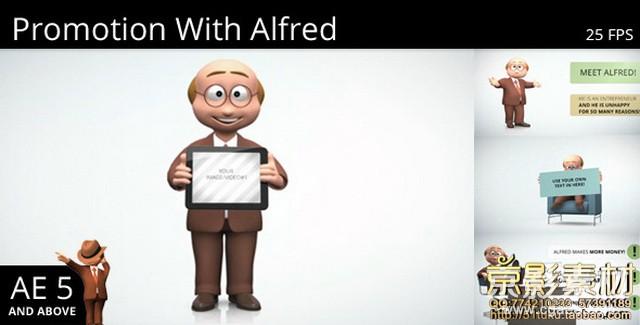 AE模板-扁平化MG效果项目推广视频片头 Promotion With Alfred