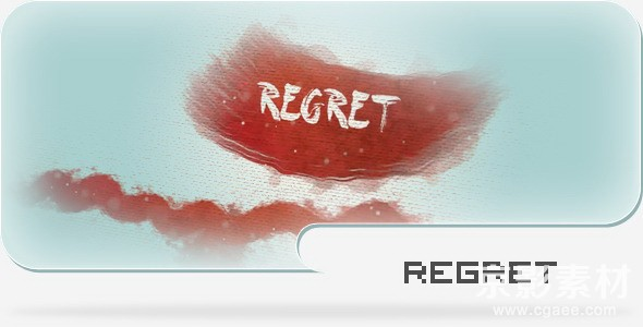 AE模板-水墨颜料画布栏目包装模板Regret-A Paint and Canvas Template