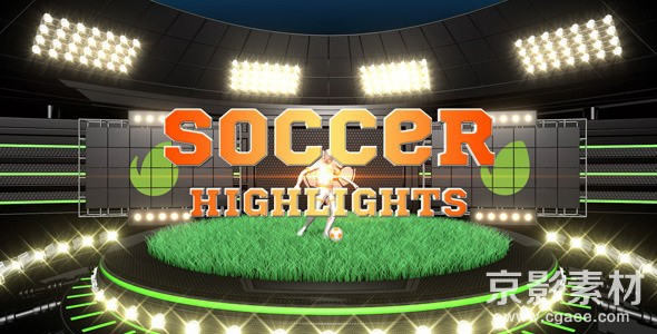 AE模板-精品体育足球栏目包装片头 Soccer Highlights Ident Broadcast Pack