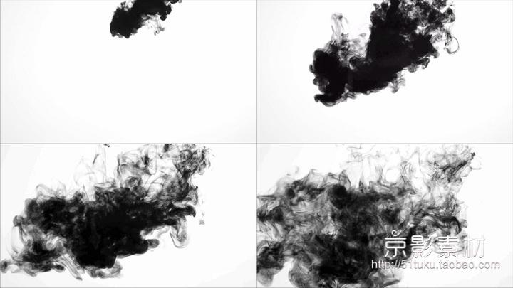 Sumi 65组水墨滴落散开转场合成4K高清视频素材