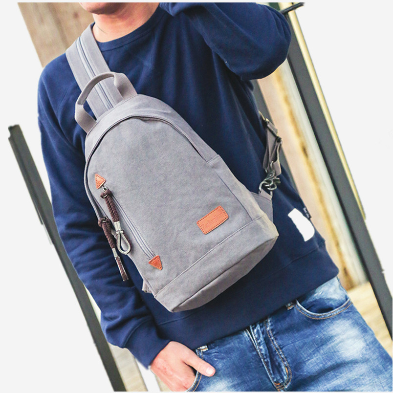 65551b920b2e Man Jiang Hong chest men s Korean messenger bag casual canvas shoulder bag  fashion trend small backpack