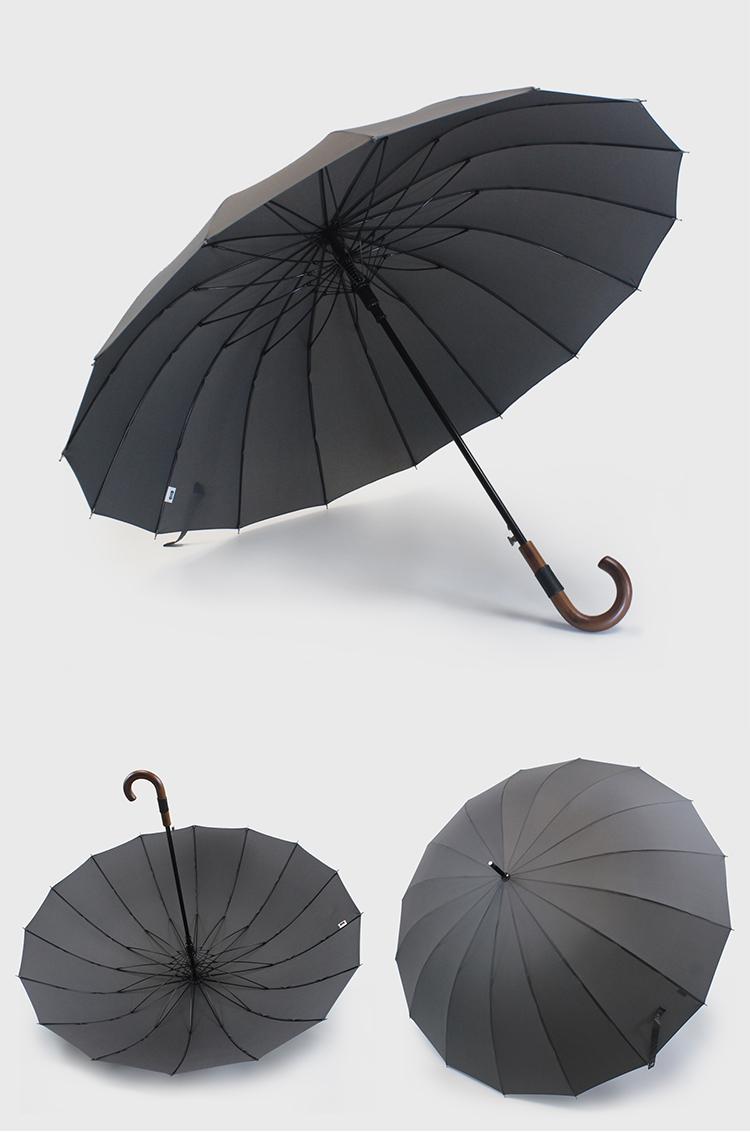 日本出口高檔骨超大伞面商务防风直柄伞男女士自动双人长柄雨伞详细照片