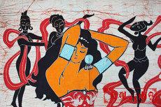 Батик Мао Бесплатная доставка картины батик