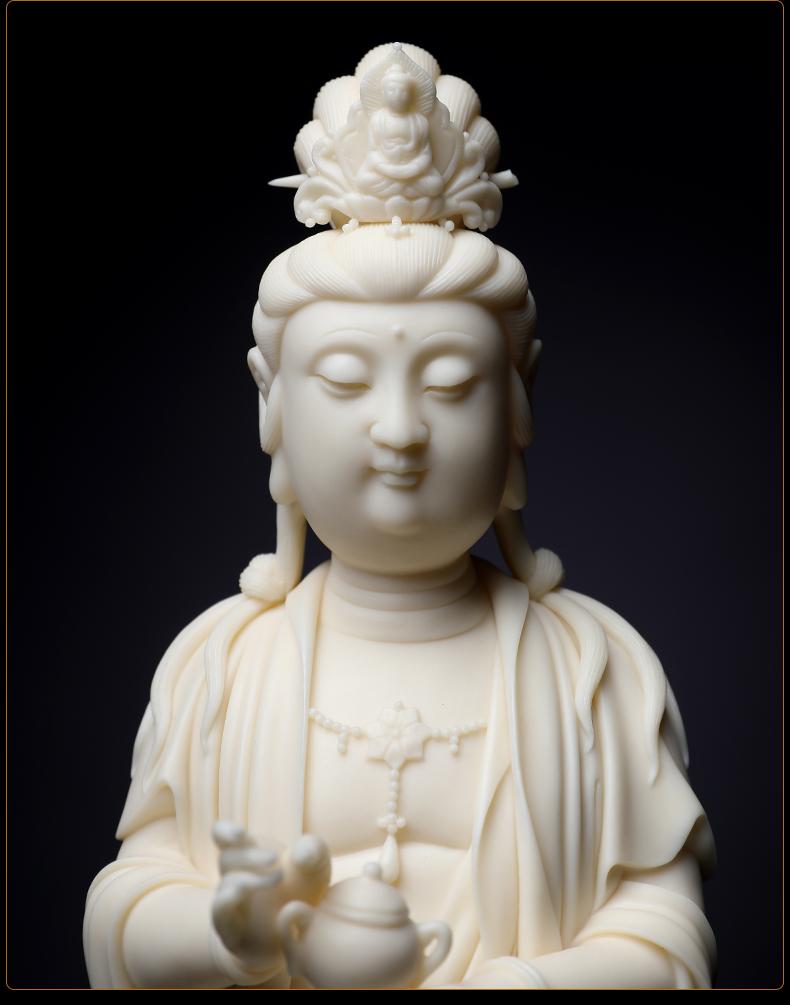 戴玉堂 手签收藏版林建胜大师作品 德化瓷雕琉璃观音佛像/D03-137