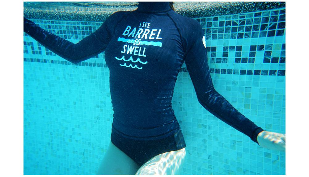 BEAUTY AMIU·促銷新款潛水服女戶外滑水分體長袖保暖沖浪服防曬泳衣浮潛水母衣