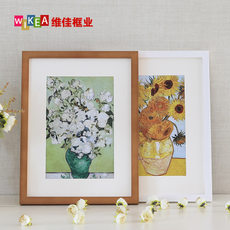 Wood photo frame wall mounted frame frame creative simple 16 inch 20 24 solid wood puzzle poster custom