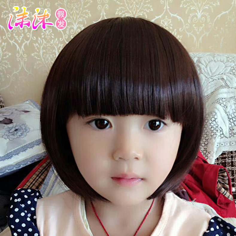 0 12 Years Old Child Wig Child Wig Girl Wig Short Hair Cute Baby Princess Photo Wig