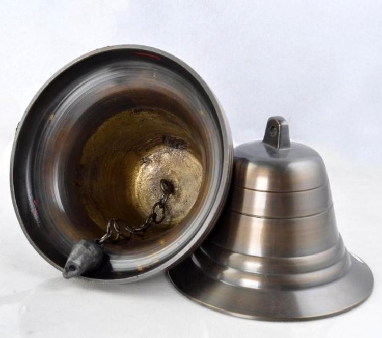 Ручной колокольчик Будда с чисто медные перезвоны ветра колокола латунь Фэн-Шуй латунь колокол колокол настенные часы школьного медный колокол 6 дюймов античная медь колокола