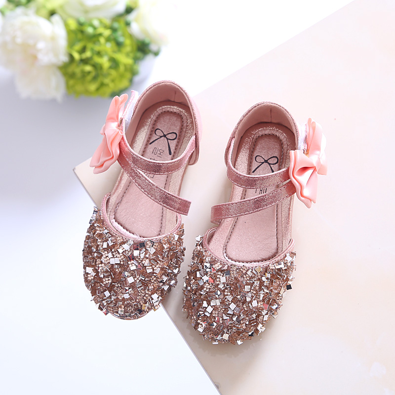 Mother & Kids Flower Magic Paste Korean Princess Shoes Casual Shoes Soft Bow Bow Pearl Tide Shoes 2019 Spring Summer Girls Fish Mouth Sandals