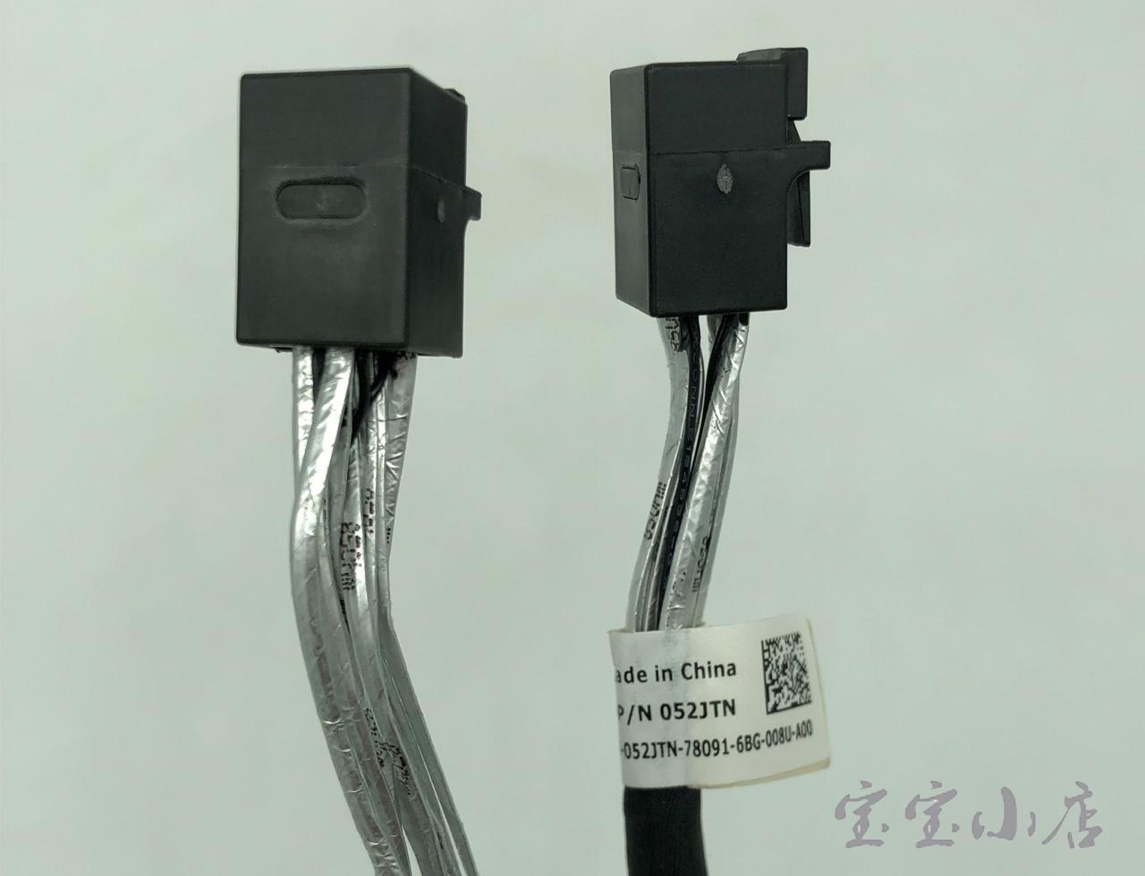 D P/N 052JTN 全新戴尔 DELL 双通道 SFF-8643 转 SFF-8639 NVMe SSD U.2固态硬盘数据线 12pin供电