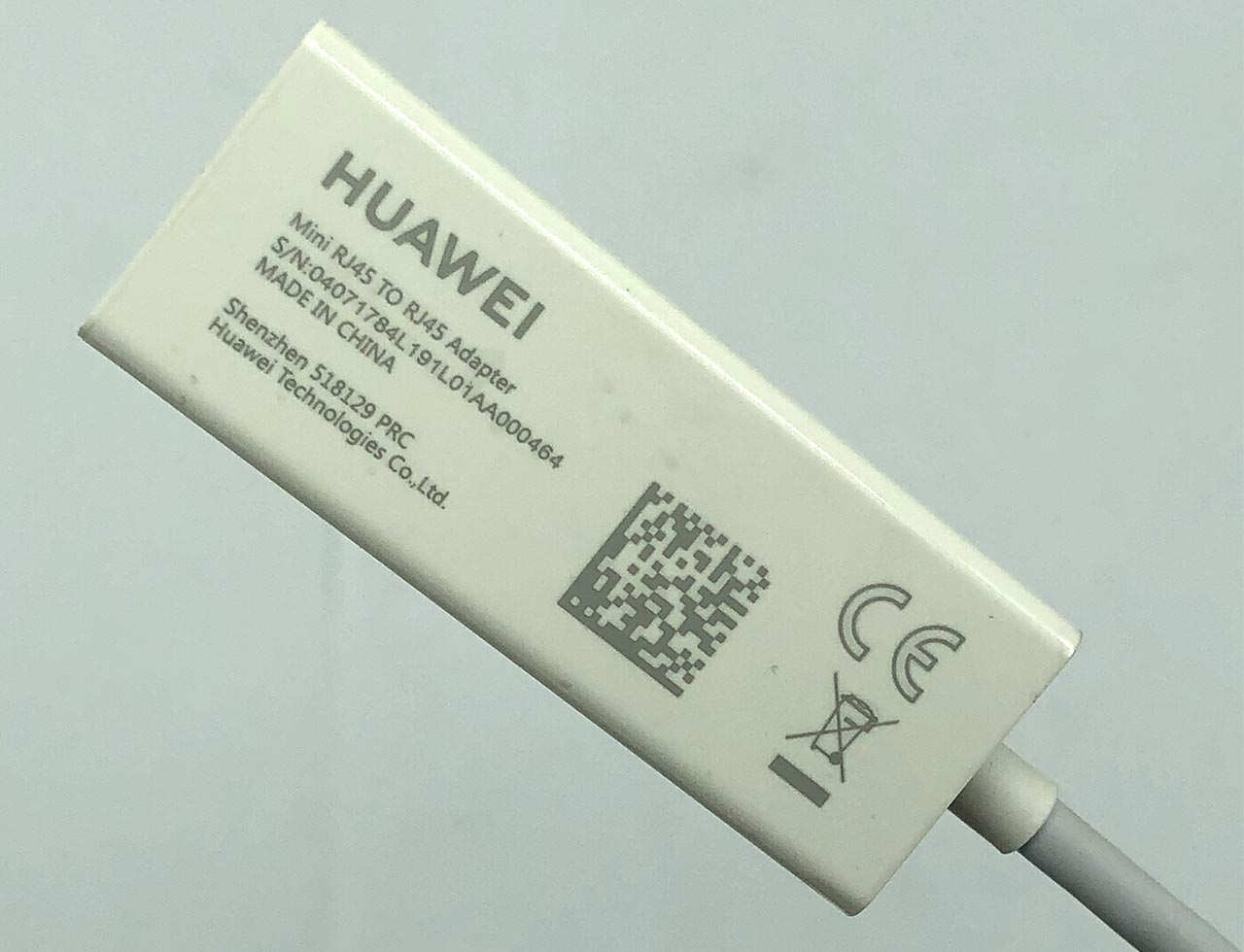 华为迷你千兆网卡拆解教程 Mini RJ45 TO RJ45 Adapter 10/100/1000 Mbps Gigabit Ethernet HuaWei MateBook B3-410 B3-510 B5-420