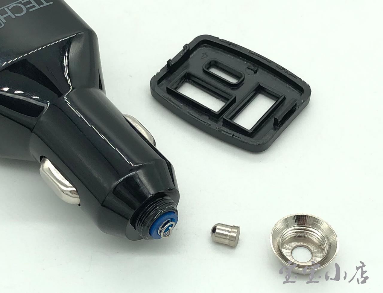 美国TechMatte汽车车载充电器点烟器车充华为苹果iphone PD一拖三 Type c QC2.0  快充头大功率TM-CHAGC-CQA