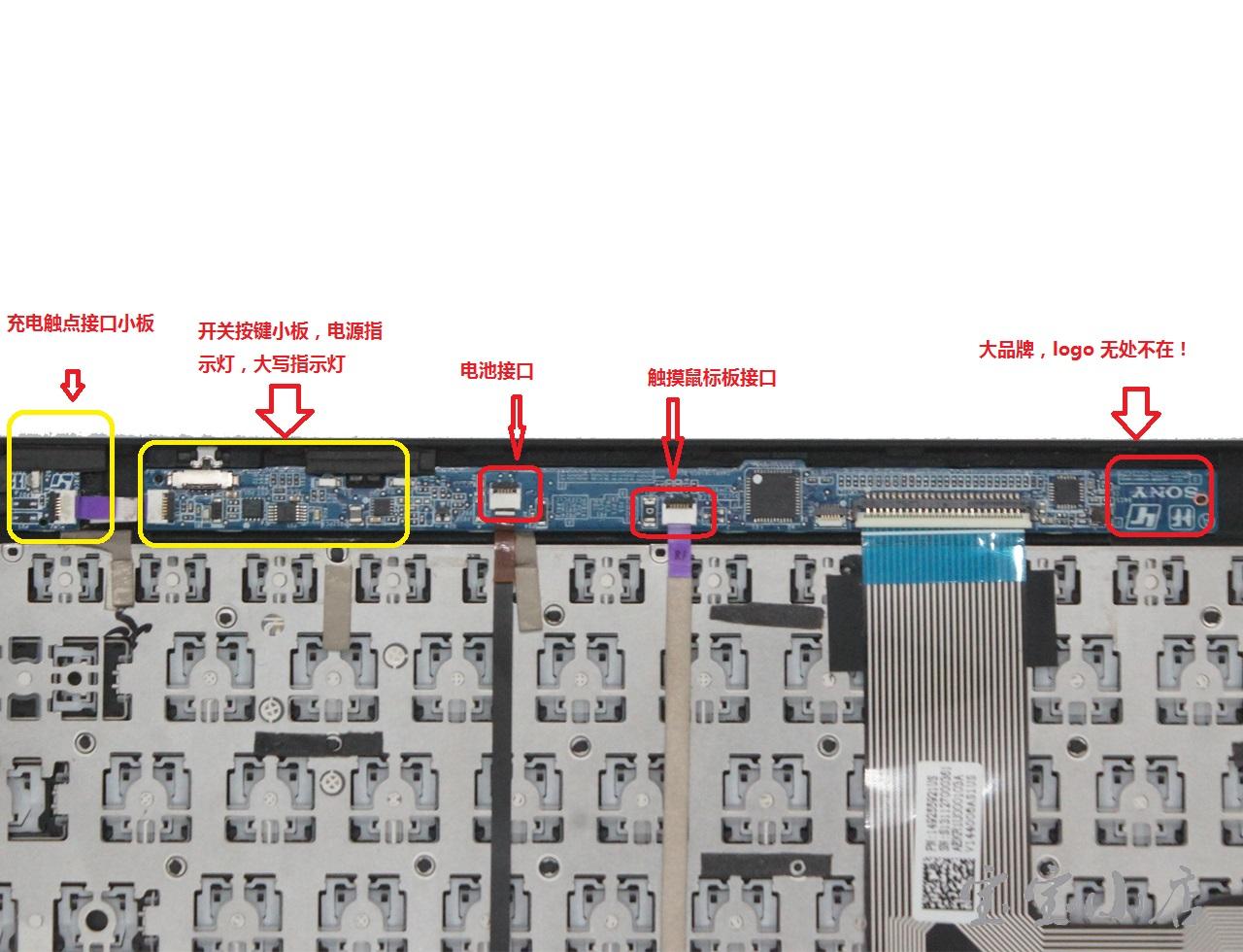 索尼SONY VGP-WKB16 A SVT112 TAP11 平板电脑键盘 蓝牙无线 拆解