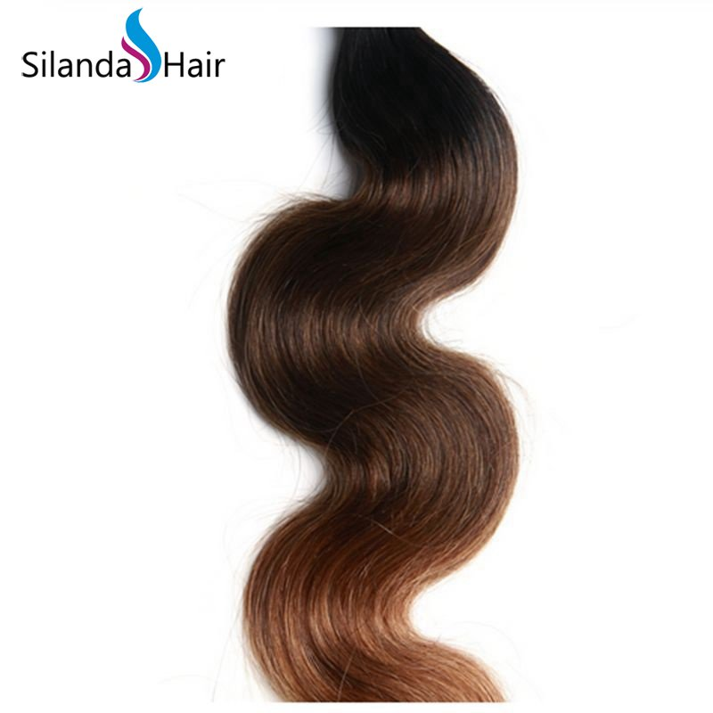 Silanda Ombre Color #T 1B/4/30 Body Wave Bundles Wave Extensions Hair Weft 3 Bundles/Pack
