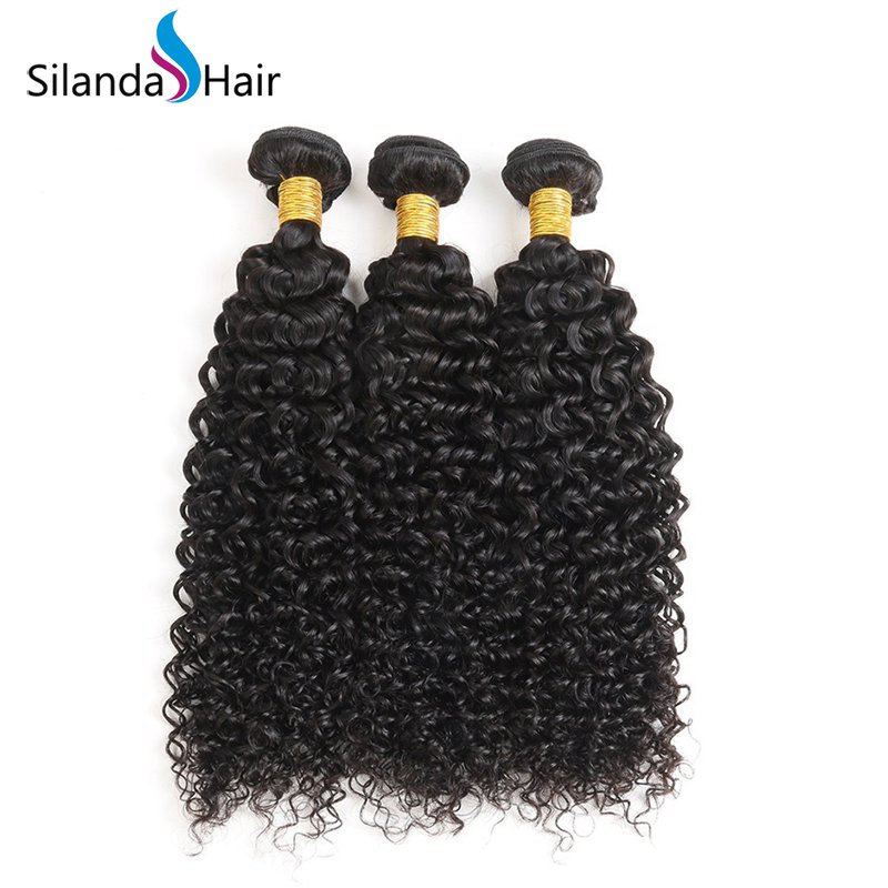 Weft Hair Extensions Nice Natural Color Jerry Curly Brazilian Remy Human Hair Bundle Deals