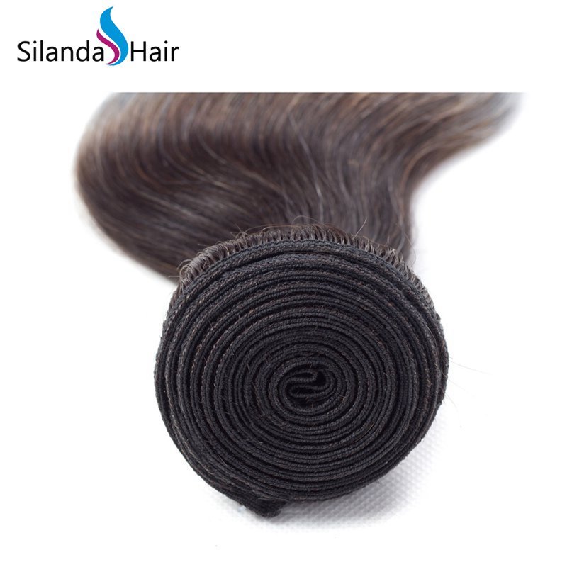 Silanda Ombre Color #T 1B/Grey Body Wave Bundles Wave Extensions Hair Weft 3 Bundles/Pack